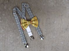 Baby suspender and Bow Tie Setsize3 month to by TheSnappySapling, $27.95 #bowtie #wedding #ringbearer