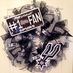 San Antonio Spurs Deco Mesh Wreath
