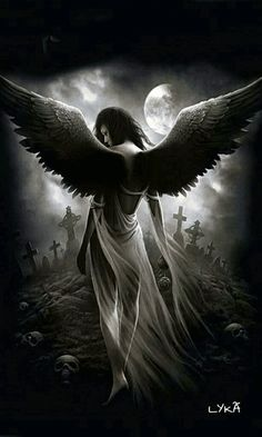 The Fallen Angel Tattoo Dark Fantasy Art, Fantasy Kunst, Fantasy Girl, Dark Angels, Angels And Demons, Imagenes Dark, Gothic Angel, Gothic Fairy, Angel Artwork