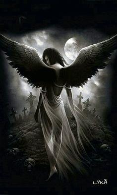 The Fallen Angel Tattoo Dark Angels, Angels And Demons, Dark Fantasy Art, Fantasy Kunst, Gothic Angel, Gothic Fairy, Angel Artwork, Beautiful Dark Art, Angel Drawing