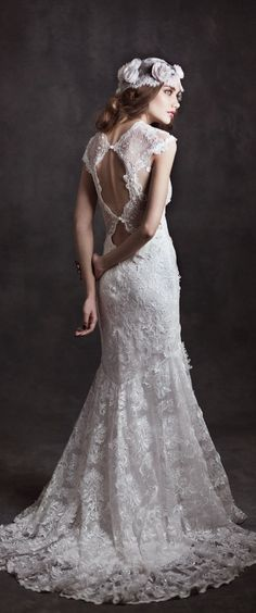 "Claire Pettibone 2015 Bridal Collection ""Gothic Angel"" - Belle The Magazine"