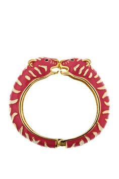 Pink and White Tiger Bangle