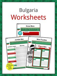 This bundle includes everything you need to know about the Bulgaria across 21 in-depth pages. These are ready-to-use worksheets that are perfect for teaching students about the Bulgaria which is a south-eastern European republic bordered to the north by Romania, to the west by Serbia and North Macedonia, to the south by Greece and Turkey, and to the east by the Black Sea. Sofia is its capital and largest city; other main towns are Plovdiv, Varna, and Burgas. It covers 110,994 square kilometers. Serbo Croatian, Geography Worksheets, One Decade, Famous Landmarks, Black Sea, Macedonia, Sign I, Bulgaria