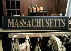 Massachusetts by PrimWoodworksByKld on Etsy