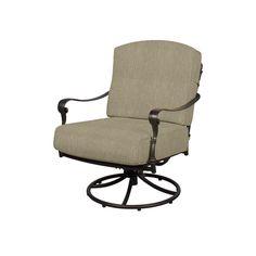 Hampton Bay Edington Patio Swivel Rocker Lounge Chair With Cushion Insert Slipcovers Sold Separately