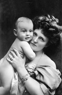 Maria Gabrielle of Bavaria and her son Albrecht