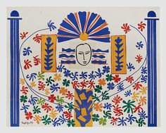 Henri Matisse Apollo, 1953 Gouache découpé, collage on white painted paper glued to the canvas Moderna Museet