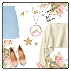 """""""Rouse gold"""" by maryskaam on Polyvore featuring косметика, Maje, Uniqlo, Maison Margiela и sincerelysilver"""