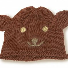 Organic Cotton Bear Hat