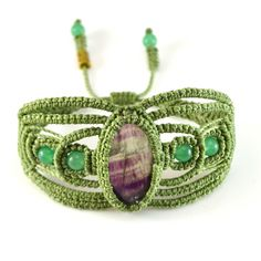 Qumir Macramé Bracelet by designer Coco Paniora Salinas of Rumi Sumaq rumisumaq.com
