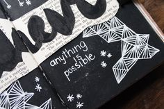 @kahlert | Anything is possible | Season of Words | Get Messy Art Journal