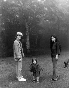 John Lennon, Sean Lennon, and Yoko Ono-Lennon