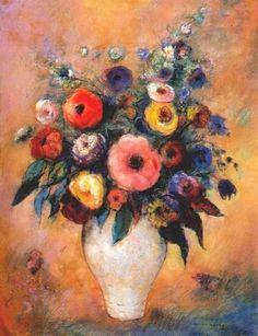 Vase of Flowers, Odlion Redon