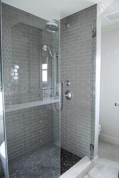 Grey Shower Surround, Contemporary, bathroom, Enviable Designs