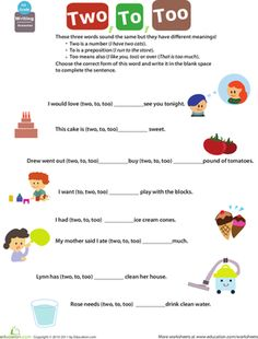 Printables First Grade Grammar Worksheets ly adverbs sentences worksheets and grammar first grade get into to two too
