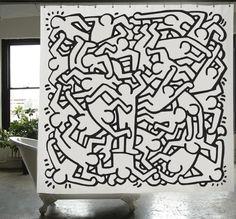 Rideau+de+douche+Keith+Haring