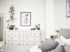 Sypialnia styl Skandynawski - zdjęcie od MartaWieclawDesign - Sypialnia - Styl Skandynawski - MartaWieclawDesign