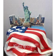 Statue of Liberty Cake. Instagram: CakesByNetteStl. Facebook: Cakes By Nette, LLC. www.cakesbynette.com