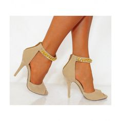 Koi Couture Nude Metal chain high heel sandal £24.99 (FREE UK Delivery) Item in Stock | Usually dispatched within 24 hours
