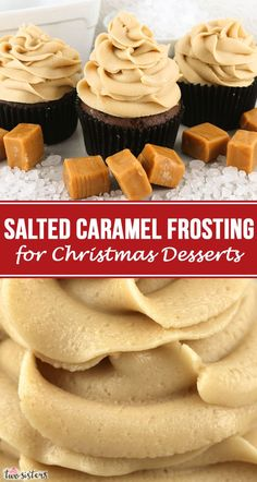 This really is the Best Salted Caramel Frosting for Christmas Desserts. Creamy and sweet and delicious, you'll never need another Salted Caramel Christmas Frosting recipe! It is so easy to make and boy will it be delicious on your Christmas Treats! Icing Recipe, Frosting Recipes, Cupcake Recipes, Baking Recipes, Cupcake Cakes, Gourmet Cupcakes, Cupcake Ideas, Bundt Cakes, Dessert Recipes