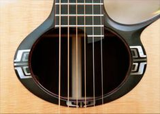 Handcrafted acoustc guitar rosette detail