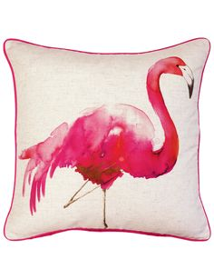 Mix and match the Keiko Flamingo cushion with any Keiko duvet cover set for a complete look.
