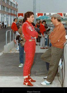 Ayrton Senna: Ayrton Senna Fotos / Mansell [campeão da Fórmula 1] e Ayrton Senna                                                                                                                                                                                 Mais