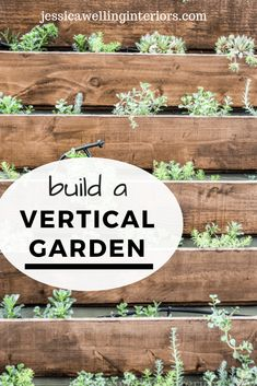 Learn to build a DIY vertical garden for herbs succulents or other plants with this easy step-by-step tutorial! This is the perfect way to dress up a wall fence or side of a building. Decor Style Home Decor Style Decor Tips Maintenance Herb Garden, Vegetable Garden, Fence Garden, Garden Pool, Indoor Garden, Outdoor Wood Stain, Vertical Garden Diy, Vertical Gardens, Vertical Planting
