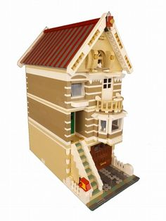 Modular Victorian Moka House: A LEGO® creation by Fichez R : MOCpages.com