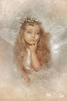 """Angels:  """"#Angel of the Day,"""" by greenfeed, at deviantART."""