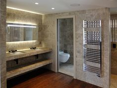 bathroom, bagno in Monaco Light Leather