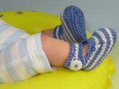 Ravelry: Baby Simple Stripe Ankle Strap Sandals pattern by Christine Grant