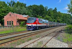 RailPictures.Net Photo: AMTK 42 Amtrak GE P42DC at West Springfield, Massachusetts by Kevin Burkholder