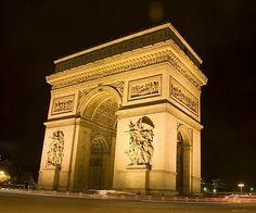 Arc du Triomphe, Paris France