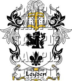 Leyden Family Crest apparel, Leyden Coat of Arms gifts
