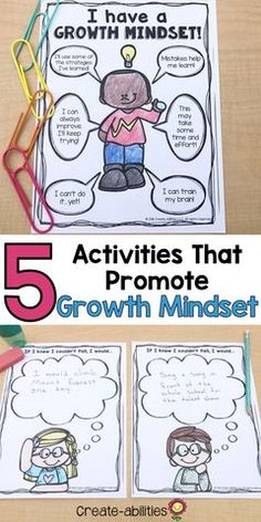 5 Activities That Promote Growth Mindset Want to learn 5 ways to promote growth mindset in your stud Health Activities, Counseling Activities, School Counseling, Vocabulary Activities, Growth Mindset Lessons, Growth Mindset Activities, First Week Activities, Creative Activities, Health Lesson Plans
