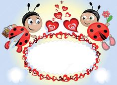 Dreamstime.com #ladybugs #frame Ladybug Art, Ladybug Crafts, Sunday Greetings, Diy And Crafts, Crafts For Kids, School Door Decorations, Baby Posters, Cute Frames, Kids Scrapbook