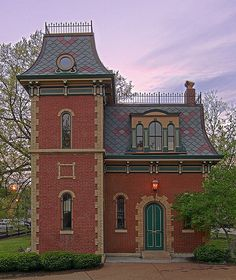 Old Lafayette Park Police Station, in the Lafayette Square Neighborhood, St Louis, Missouri Victorian Architecture, Beautiful Architecture, Beautiful Buildings, Architecture Details, Lafayette Square, Lafayette Park, Mansard Roof, St Louis Mo, Second Empire