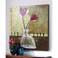 Hand-Painted Still Life One Panel Canvas Oil Painting For Home Decoration 163616 2017 – $39.19