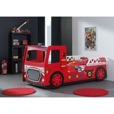 Fire Engine 101 x 223cm Car Bed