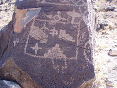 Petroglyph National Park in Albuquerque, NM.  These are designs carved into volcanic rock by the Native Americans 400-700 years ago.
