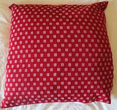 Hand loomed red cushion from Mizoram, North east India