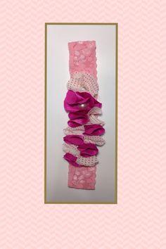 Tiara de renda rosa