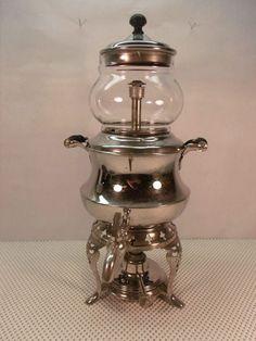 Antique Vintage 1904 Manning Bowman 393 Meteor Coffee Pot Percolator Urn