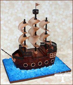 Αποτέλεσμα εικόνας για pirate ship cake