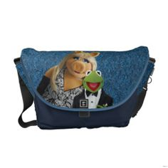 The Muppets Miss Piggy and Kermit Messenger Bag #Muppets