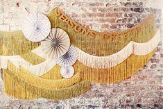 fringe on the walls