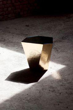 Viya — Metallic Pyrite Table