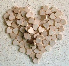 little wooden hearts