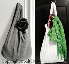 #Upcycle #repurpose old Tank tops into cute Totes with SaltTree, featured @totgreencrafts